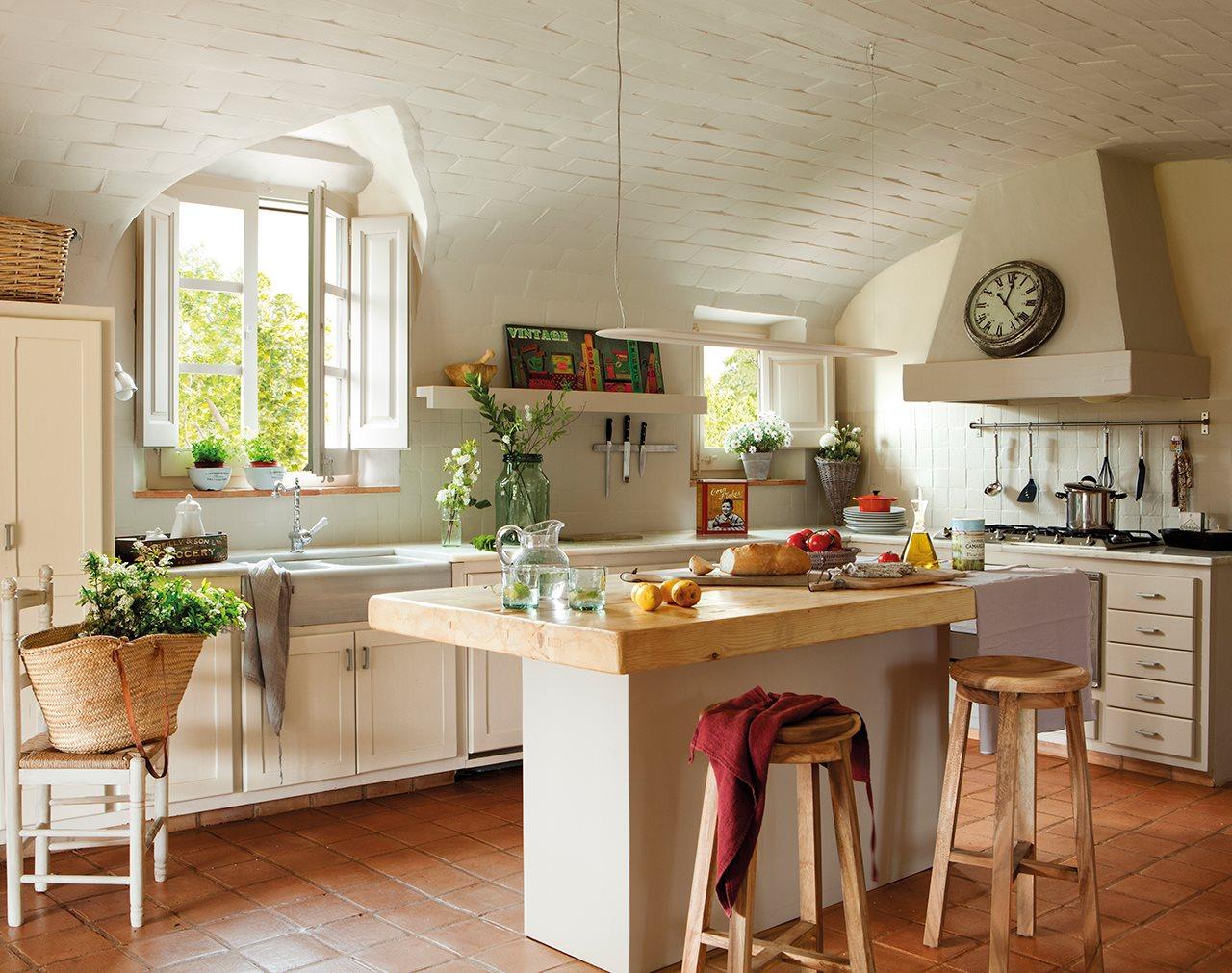 Mas a decorada con estilo vintage - Cocina con alma ...