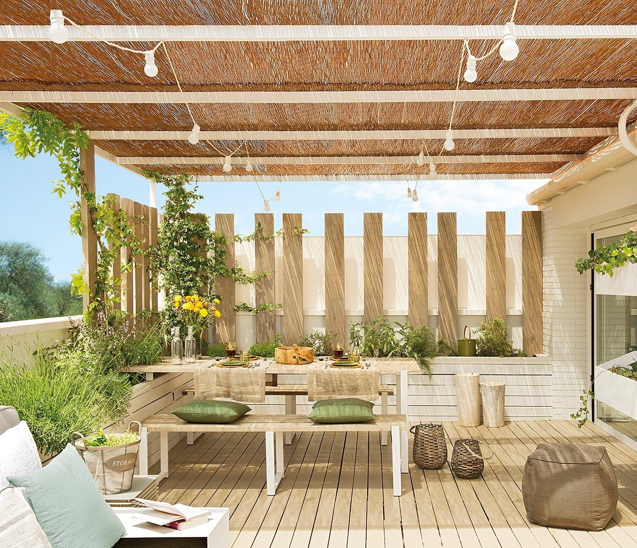 Un oasis en plena ciudad for Arredo balconi e terrazze