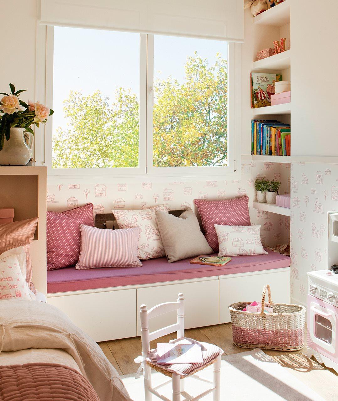 Ideas de almacenaje en habitaciones de ni os - Sofas con cajones ...