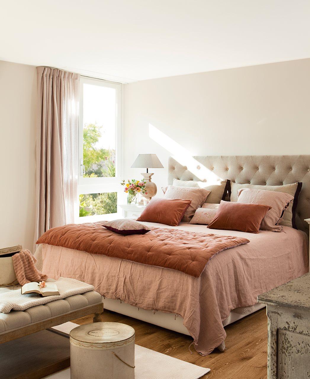 Tr plex con luz for Dormitorio king