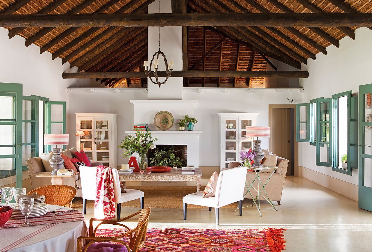 Decoraci n de un cortijo andaluz for Decoracion para el salon de casa