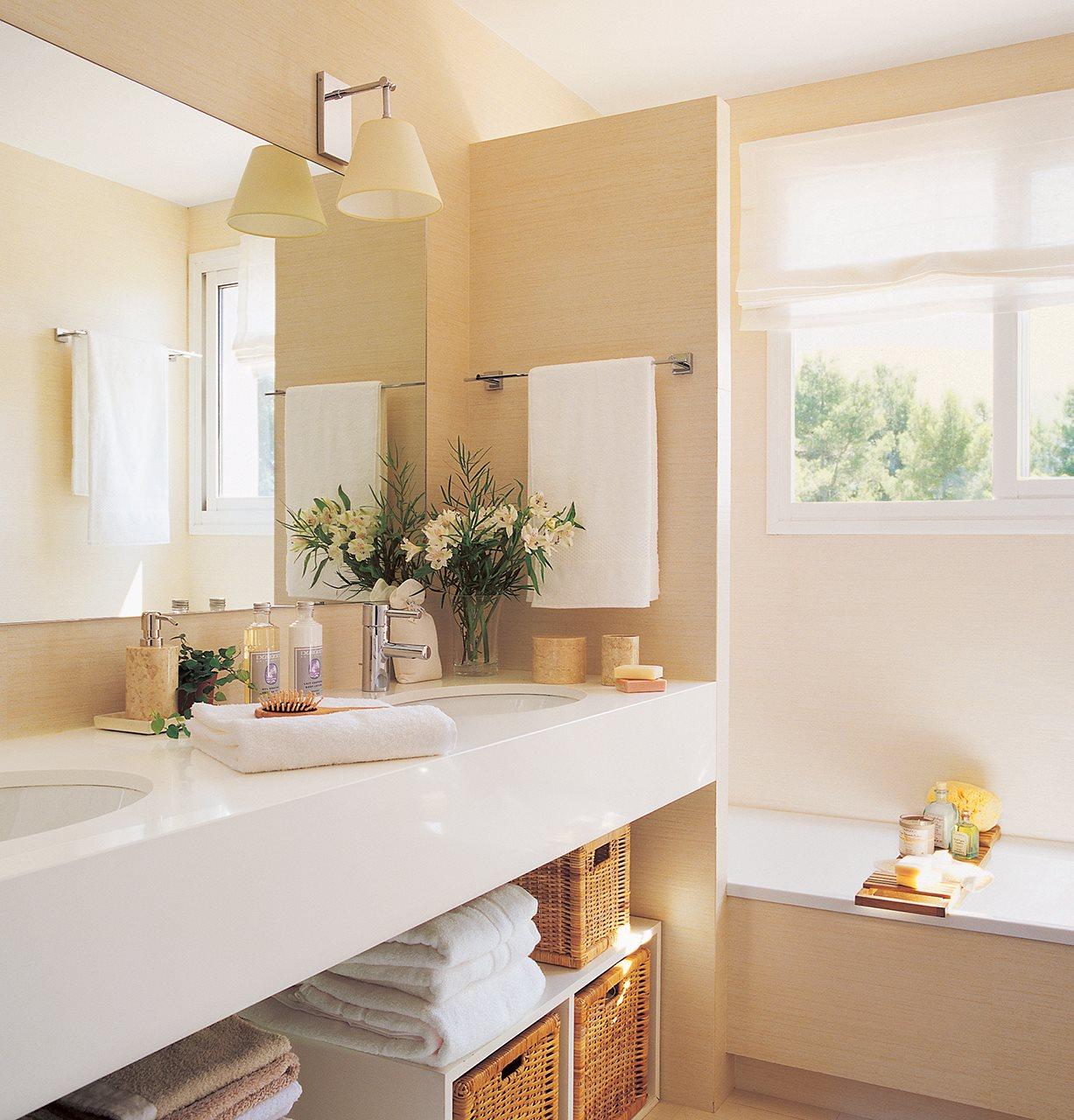 Ba os beige con blanco - Fotos decoracion banos ...