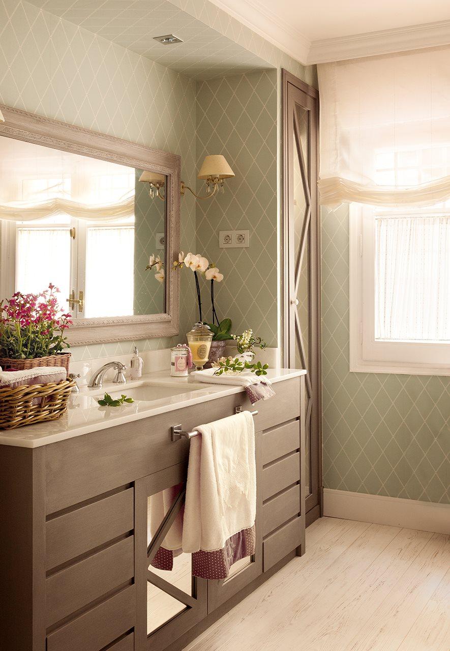 Renueva tu cocina y tu ba o sin grandes obras - Papel pintado para bano ...