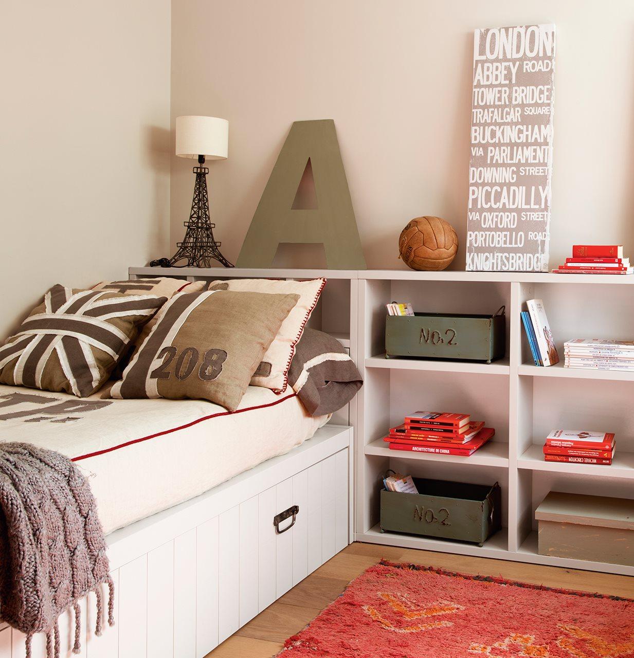 Un cuarto juvenil pensado al mil metro - Habitacion infantil cama nido ...