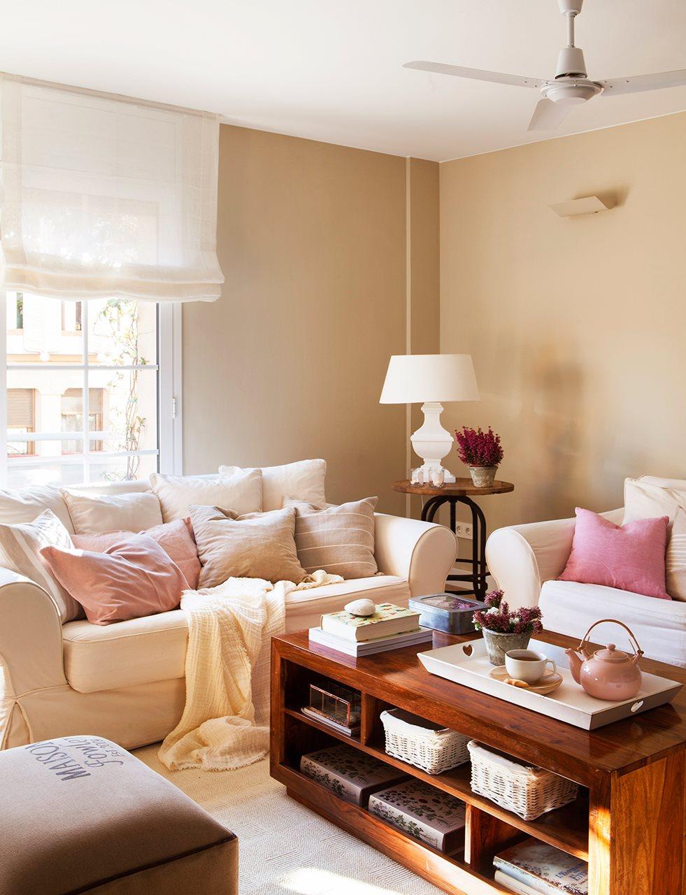 Salones peque os con ideas para ganar espacio - Ideas para decorar salones pequenos ...