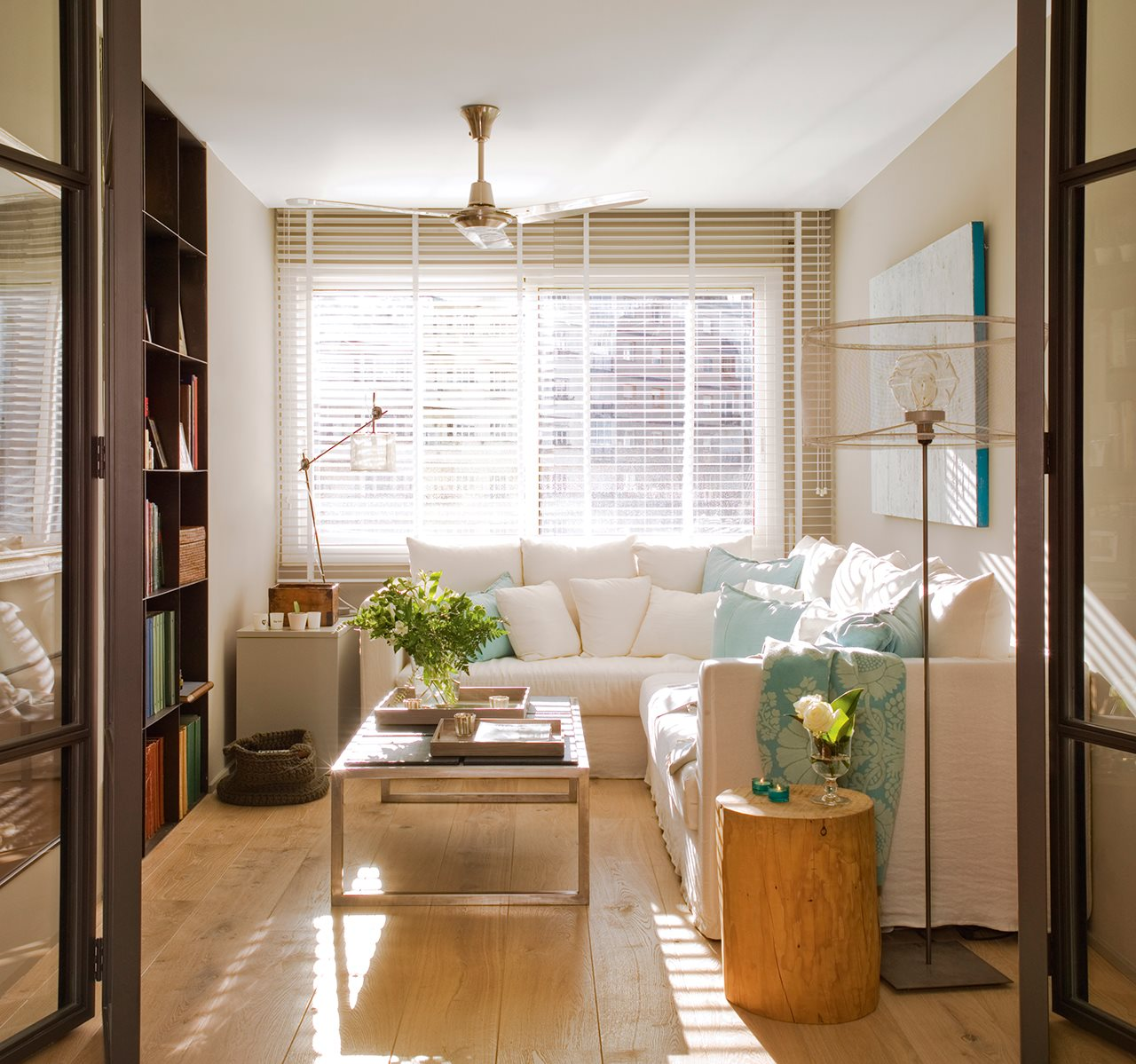 Salones pequeños con ideas para ganar espacio