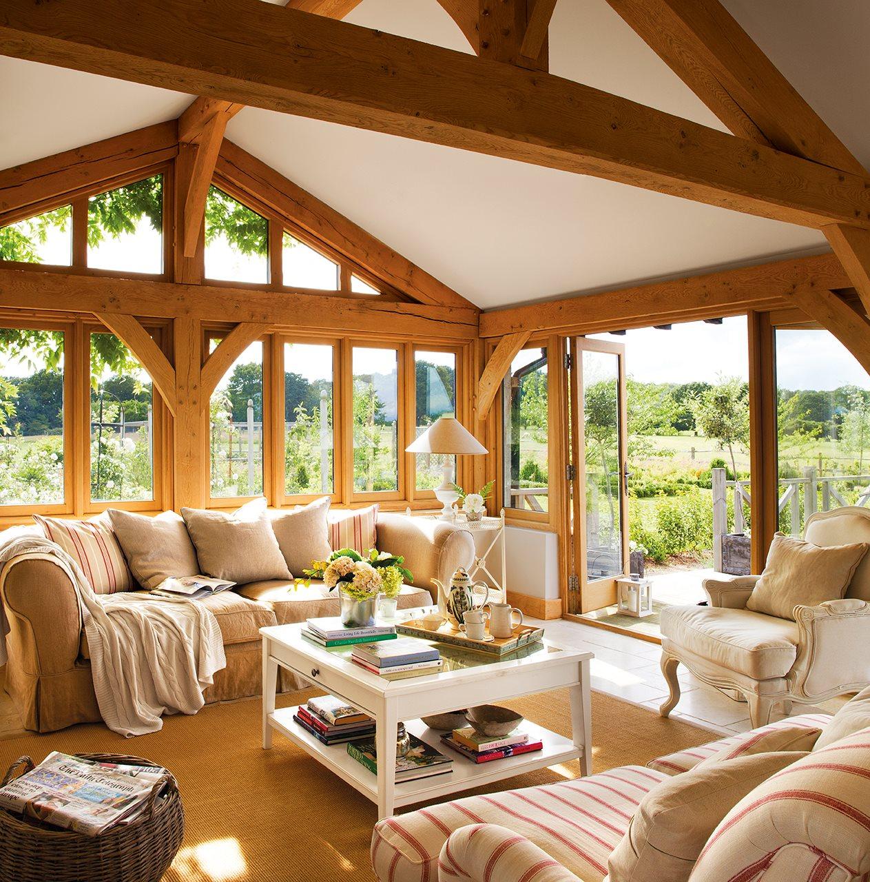 La casita de lady sophia for Casa de madera con jardin
