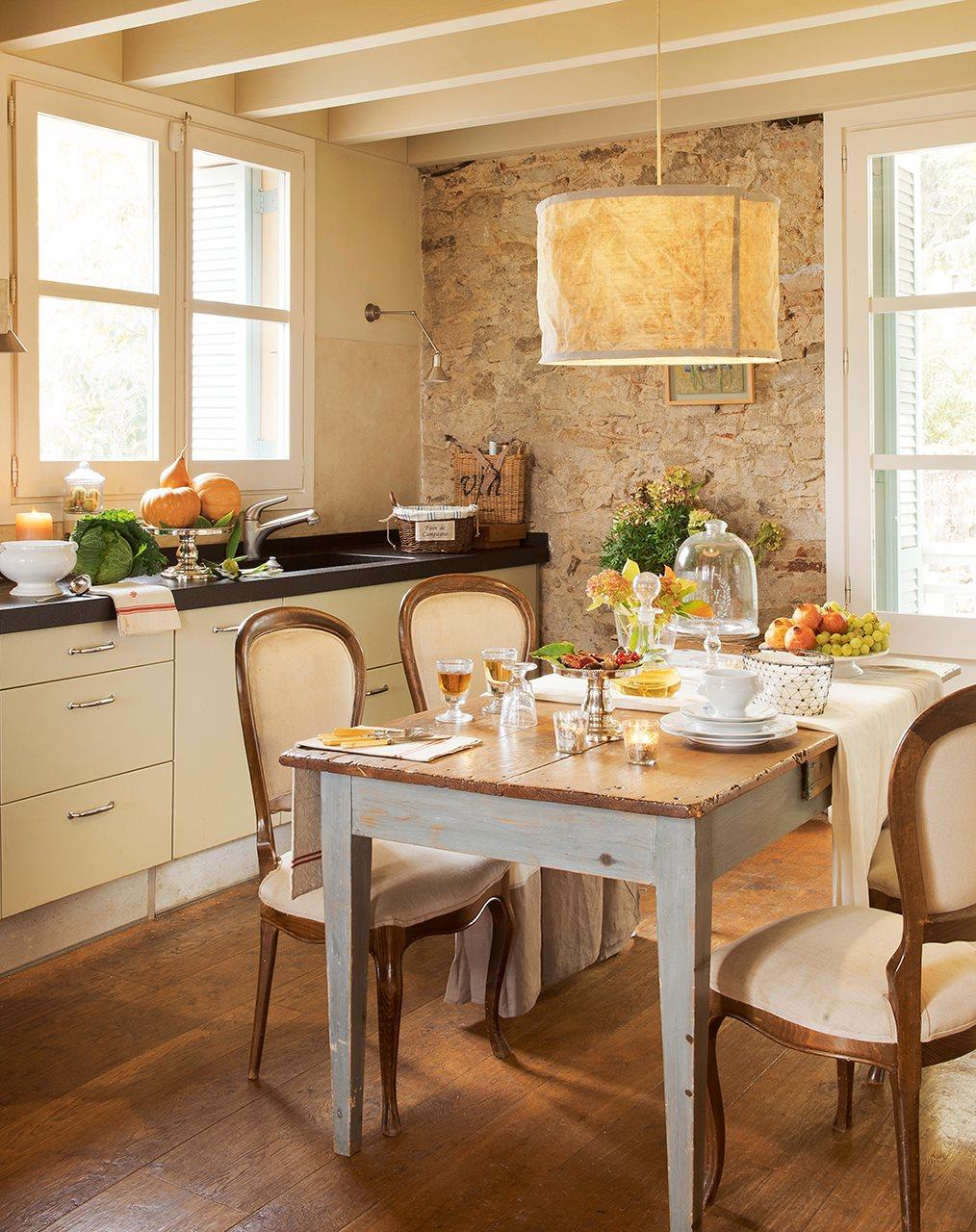 3 cocinas abiertas muy bien integradas for Cocinas con pared de piedra