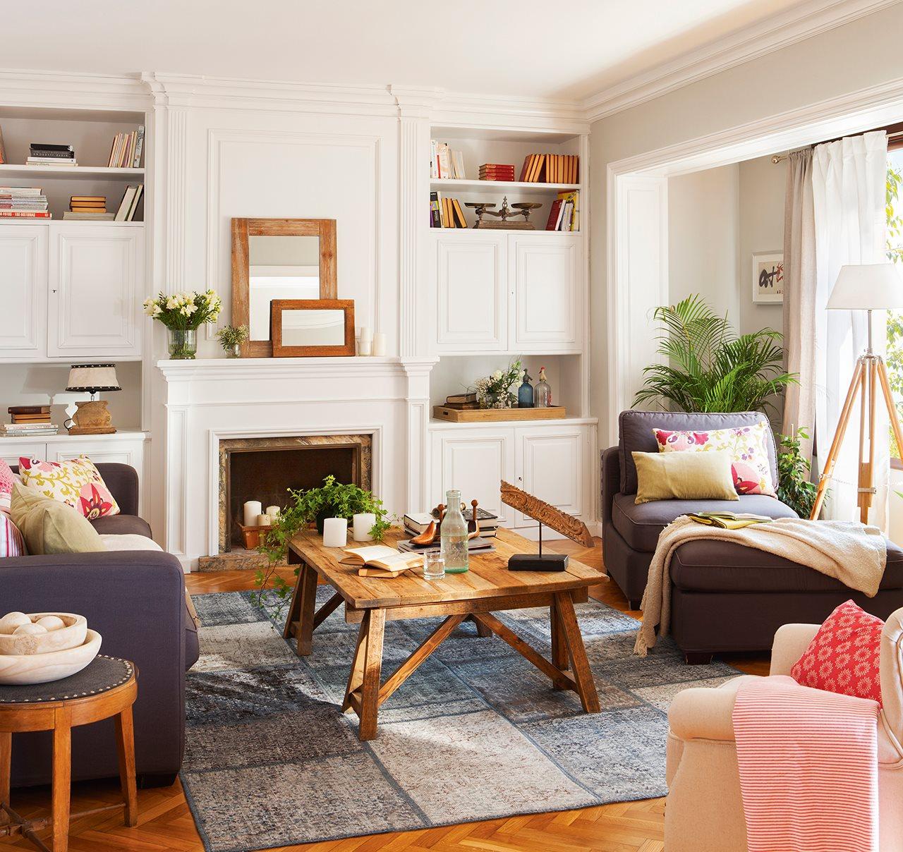 Reforma de un piso antiguo para ganar luz - Adornos para el salon de casa ...