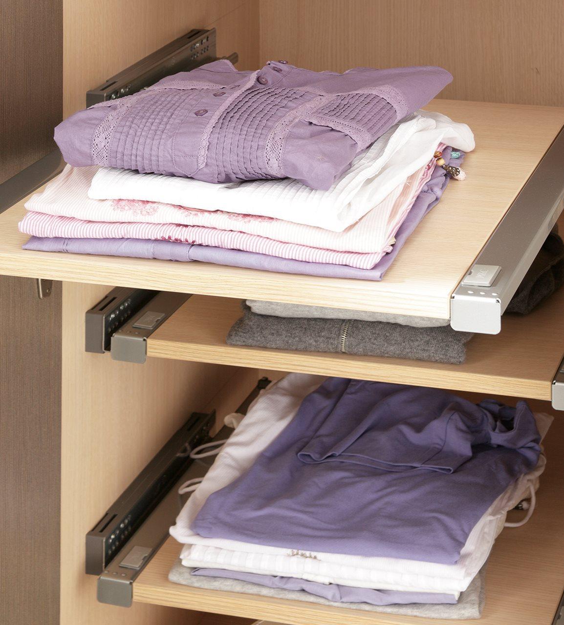 C mo organizar el armario for Guias para baldas