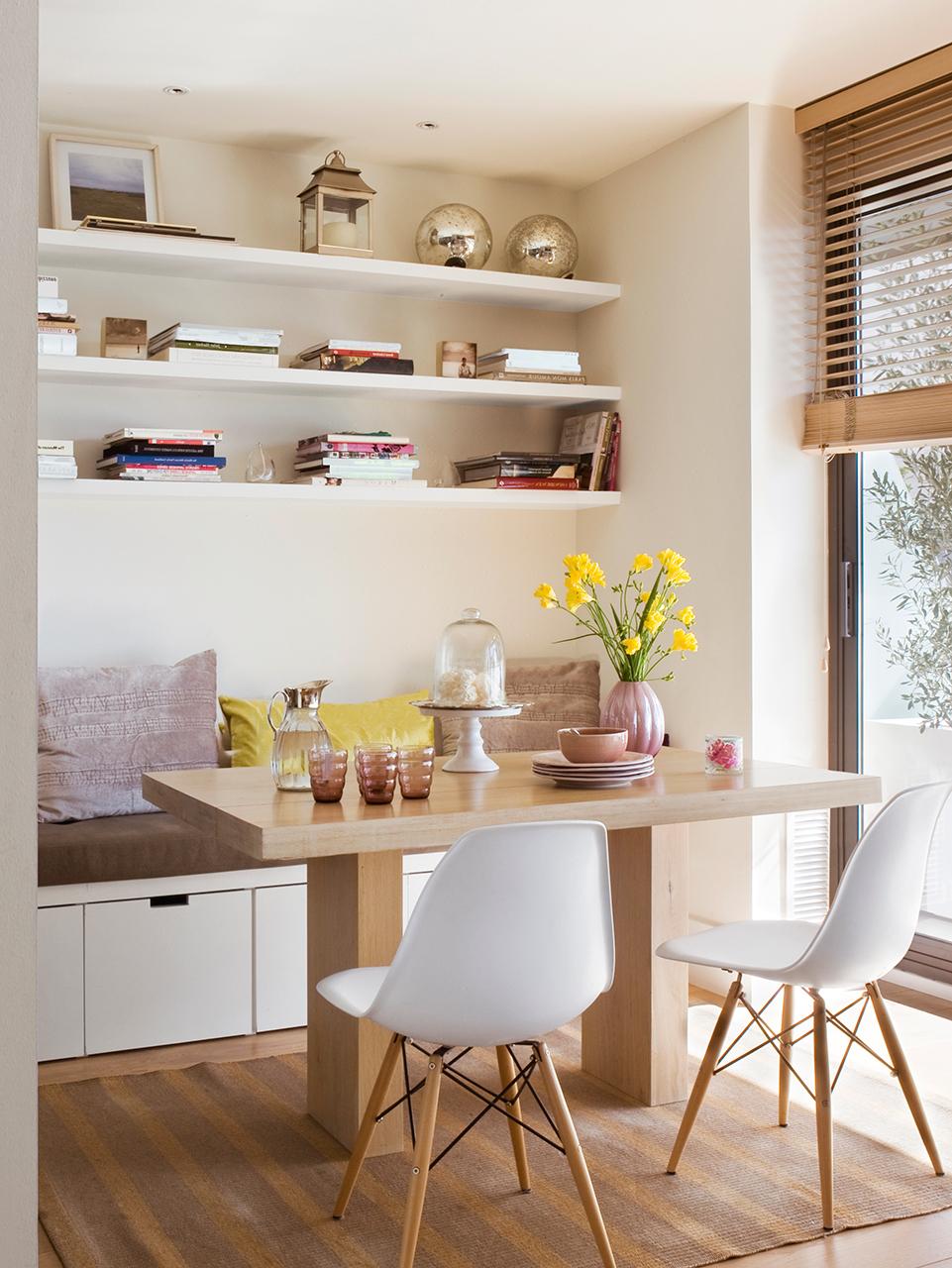 A estos 7 muebles a medida no se les escapa ni un cm - Bancos esquineros para cocina ...