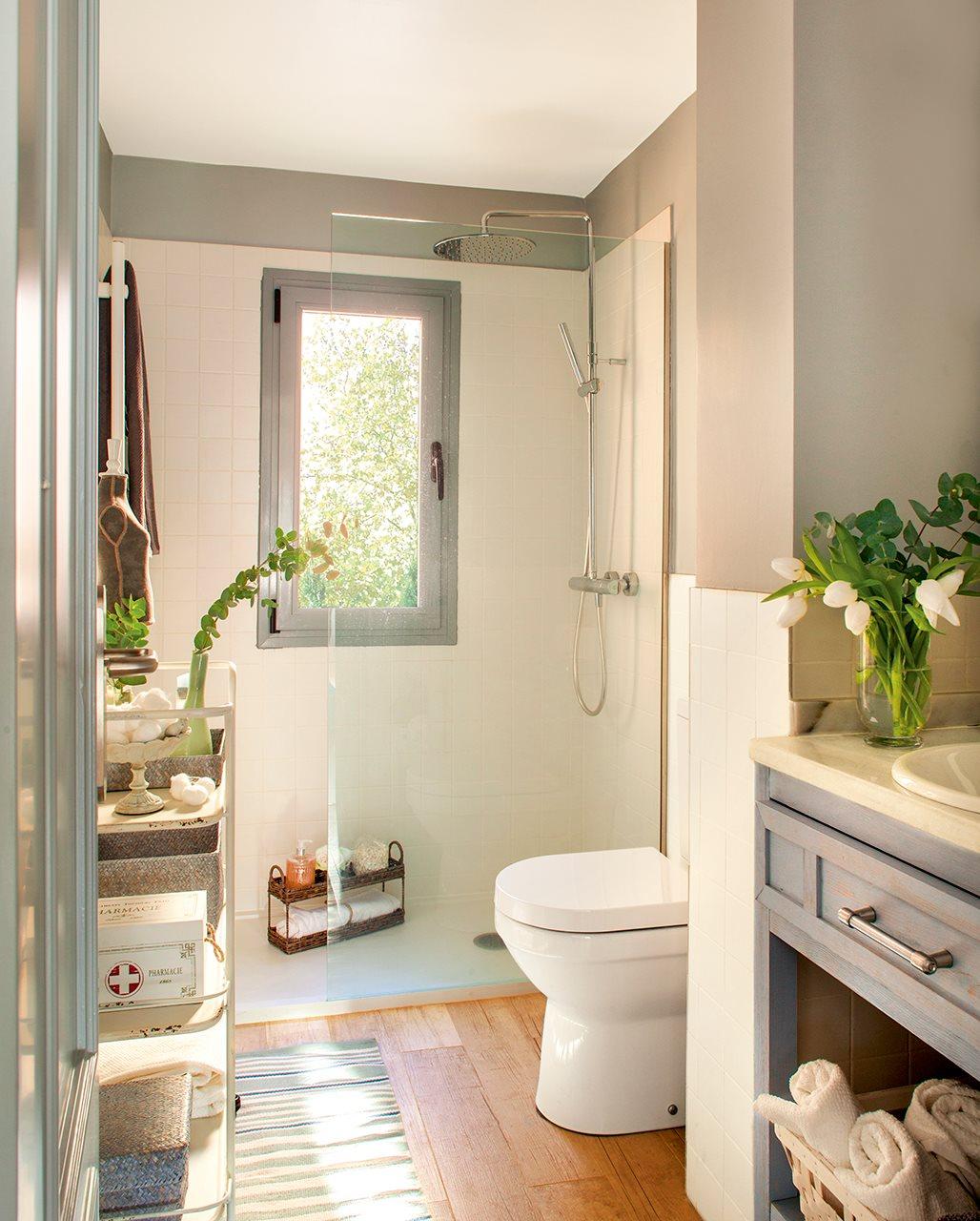 Ba os peque os con ducha for Diseno de cuartos de bano pequenos con ducha