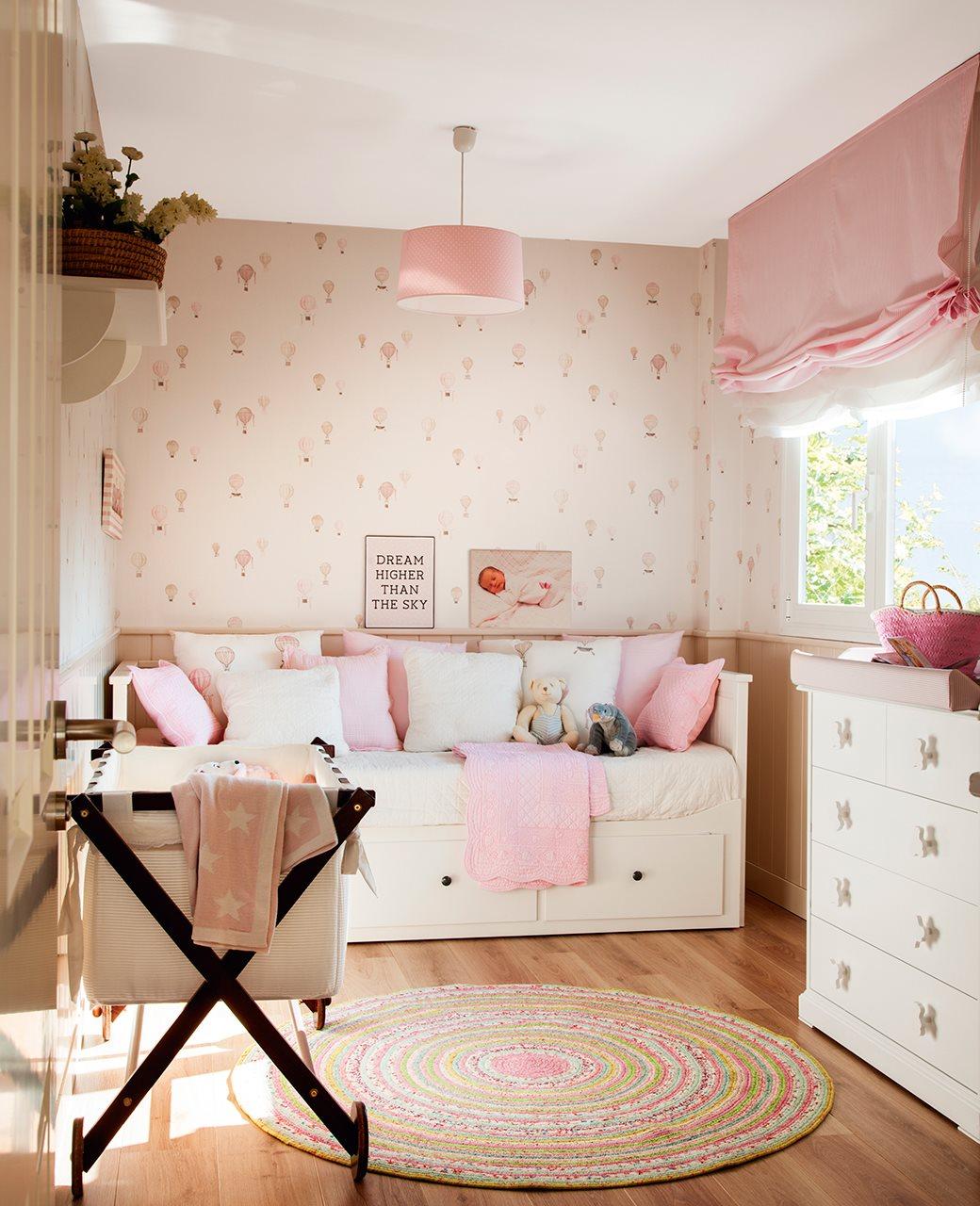 Dormitorios Decorados Con Papel Pintado Awesome Stunning Adorable  ~ Papel Pintado Para Habitacion Juvenil De Niña