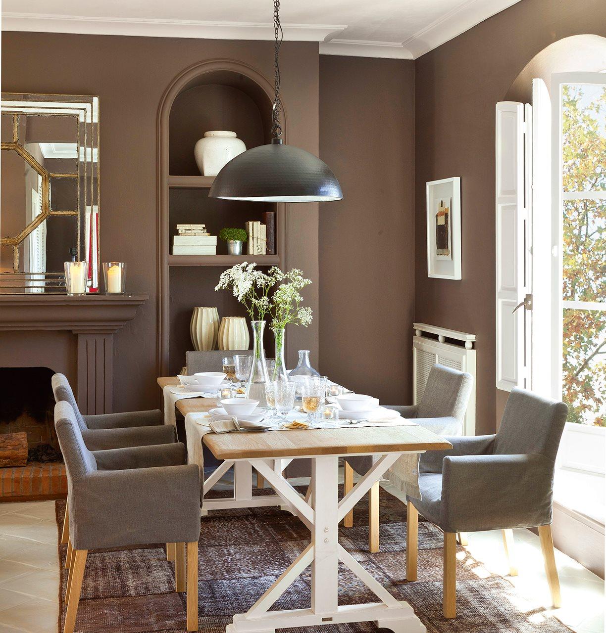 5 espacios mini que lo tienen todo Colores paredes salon