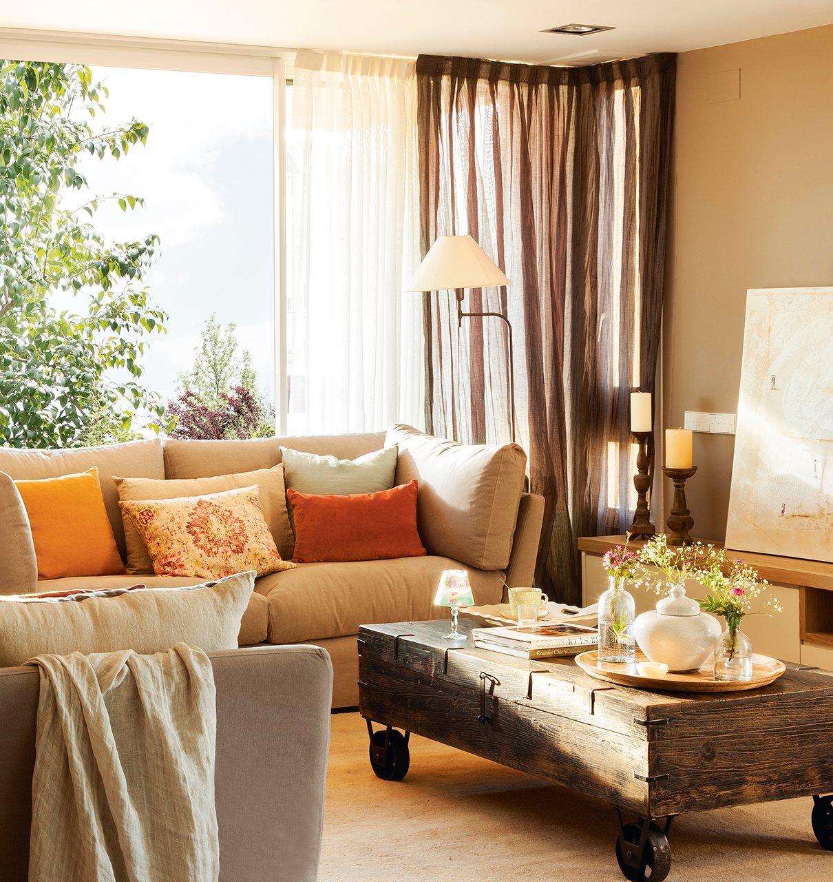 Elegir cortinas y acertar telas medidas y materiales - Visillos para salones ...