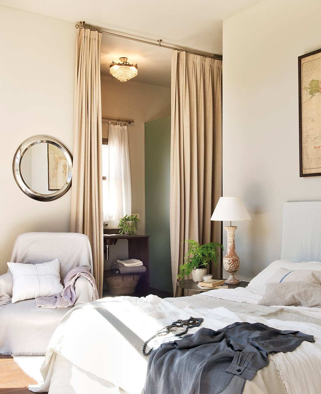 Ideas para decorar con telas - Cortinas originales para dormitorio ...