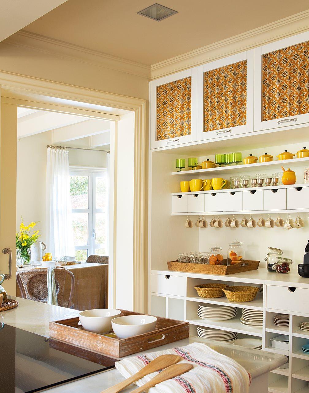 Cocinas con cortinas arquitecturas hogare as - Cortinas en cocinas ...