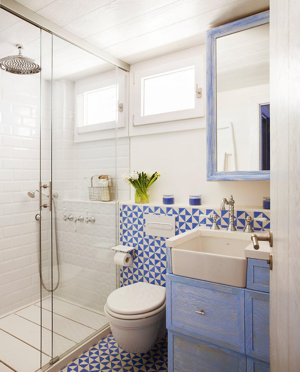 azulejos hidraulicos bao trendy amazing bao con porcelnico imitando