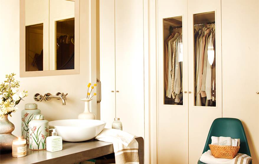 Baño Con Vestidor Medidas:Con vestidor y pensado para compartir