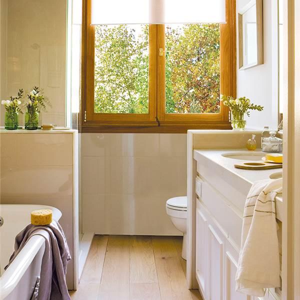 Ba os con ducha pr cticos y ecol gicos for Baneras banos pequenos