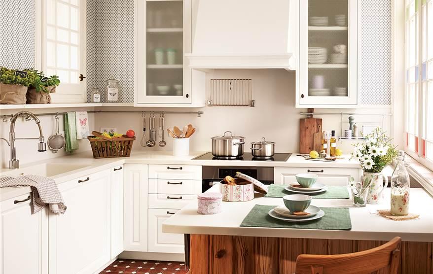 Cómo es una cocina pequeña bien aprovechada