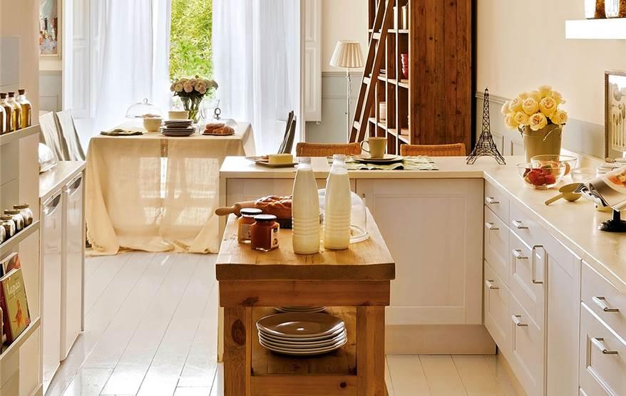 Gana espacio extra en casa - Mesas con ruedas para cocina ...