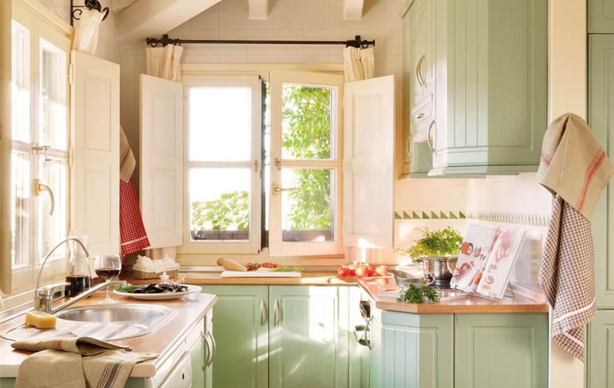 15 fotos de cocinas peque as bien aprovechadas - Cocinas pequenas rusticas ...