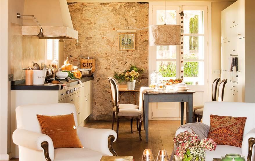 3 cocinas abiertas - Salones de piedra ...