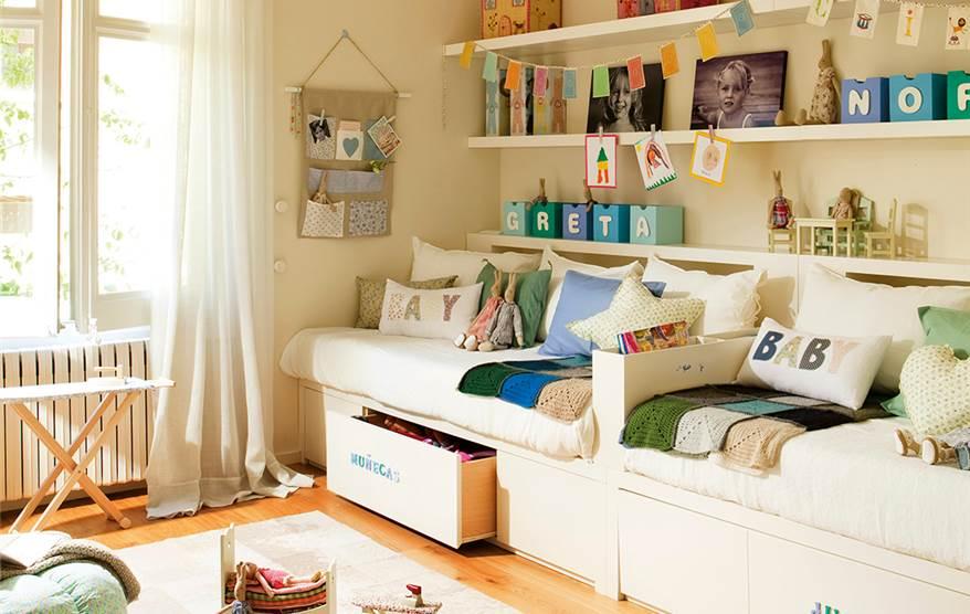 10 ideas para una habitaci n de dos o m s - Suelo habitacion ninos ...