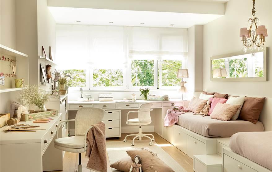 Una suite de princesas con ba o estudio y vestidor for Bona nit muebles