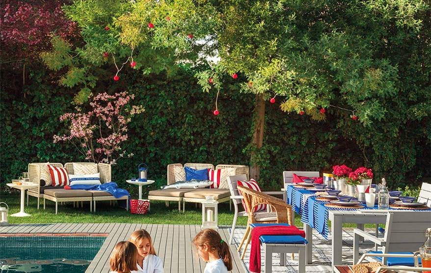 Porche terraza piscina vive el exterior - Ikea jardin toldos roubaix ...