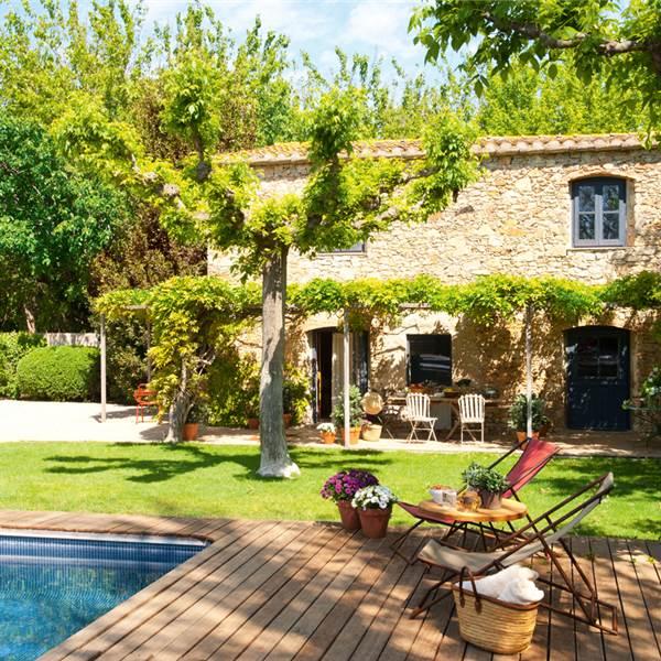 La casita de lady sophia for Casas rusticas con jardin