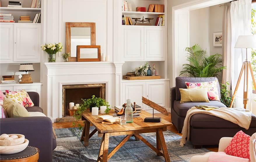 Reforma de un piso antiguo para ganar luz for Chimeneas para pisos