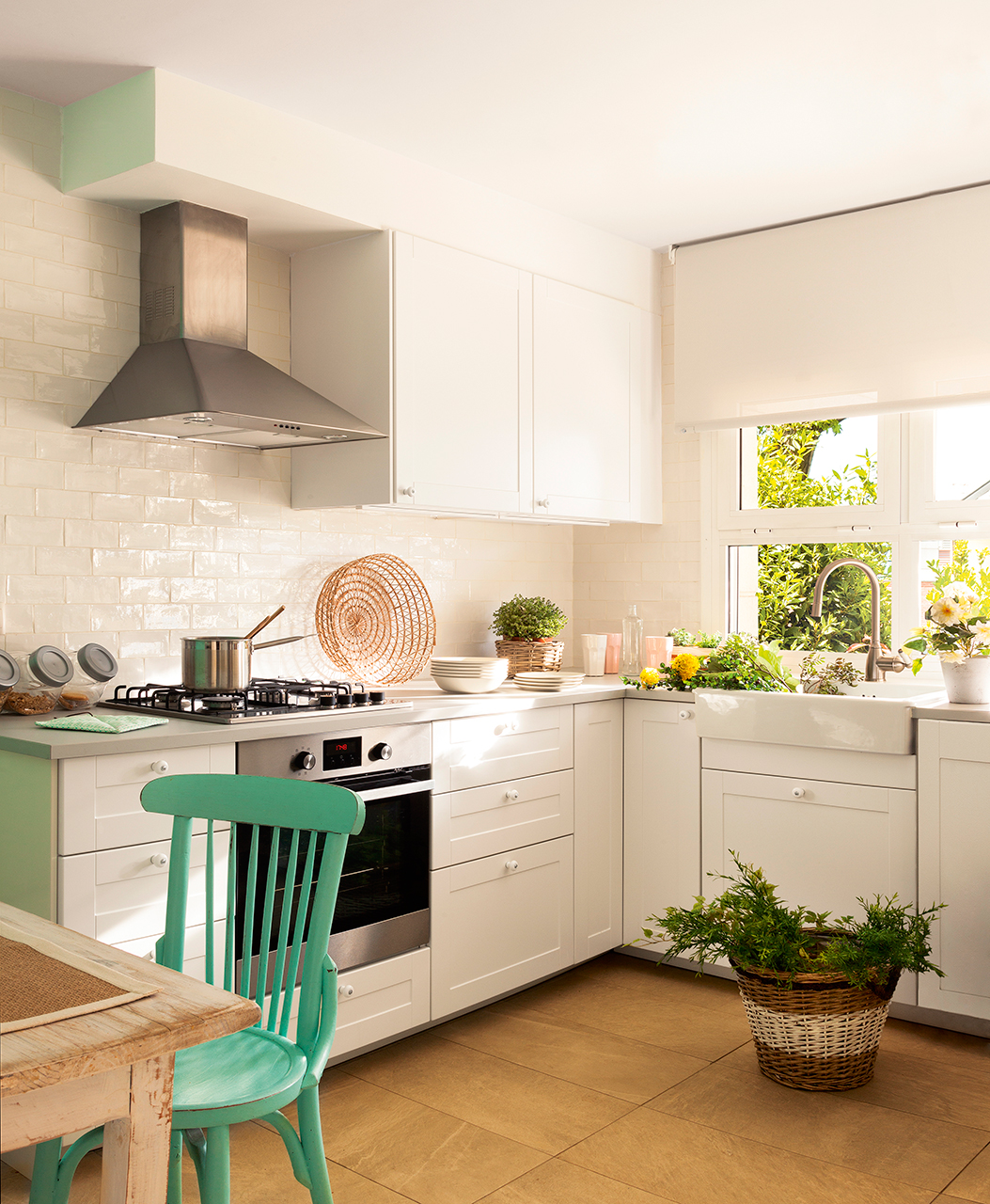 Ideas de decoraci n para cocinas peque as - Electrodomesticos para cocinas pequenas ...