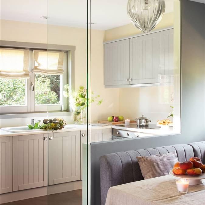Paredes de cristal c mo ganar espacio y luz - Unir cocina y salon ...