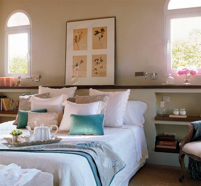 Ideas de cabeceros para dormitorios de todos los estilos - Cuadros como cabeceros de cama ...