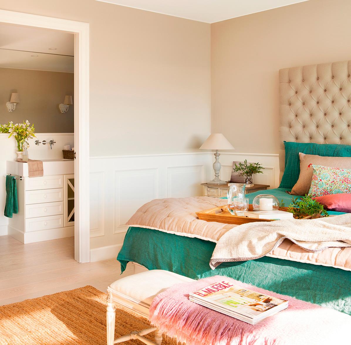 El primer proyecto de dise o de la mujer de andr s iniesta - Dormitorio verde ...