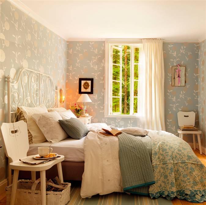 Ideas de cabeceros para dormitorios de todos los estilos - Papel pintado dormitorio principal ...