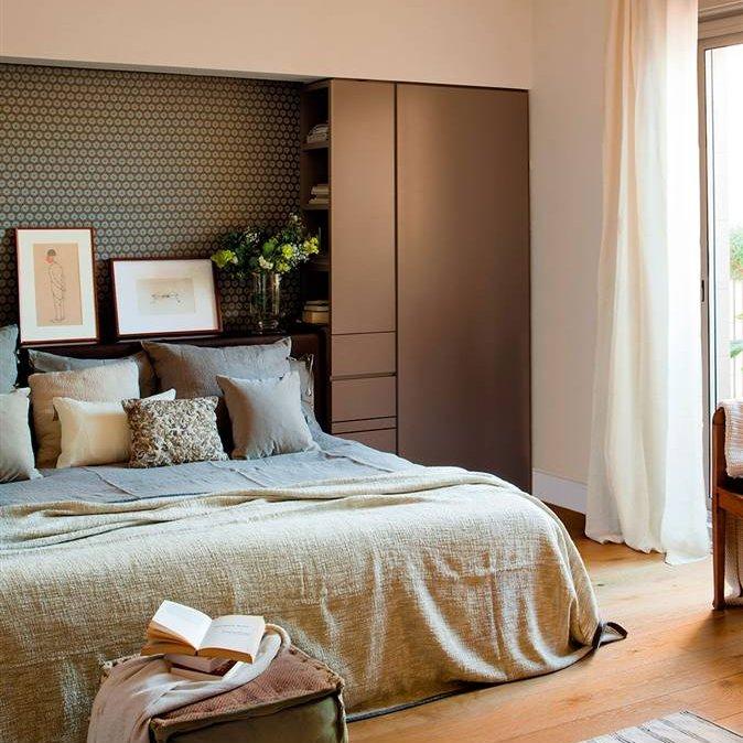 C mo conseguir almacenamiento extra en tu dormitorio - Color teka en muebles ...