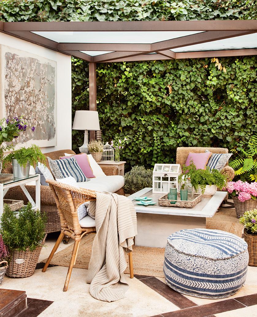 C mo conseguir una terraza perfecta for Muebles exterior tela nautica