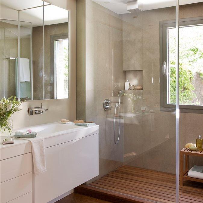 Cuarto de bano con banera y ducha dise os for Cuartos de bano con ducha