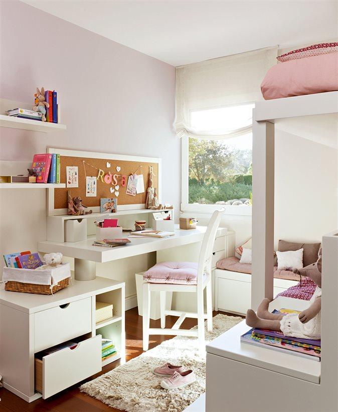Espacio por arte de magia en el cuarto de los ni os for Dormitorio nina blanco