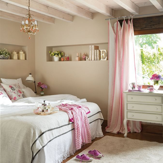 Grandes ideas para los dormitorios peque os m s bonitos - Decoracion de interiores dormitorios pequenos ...