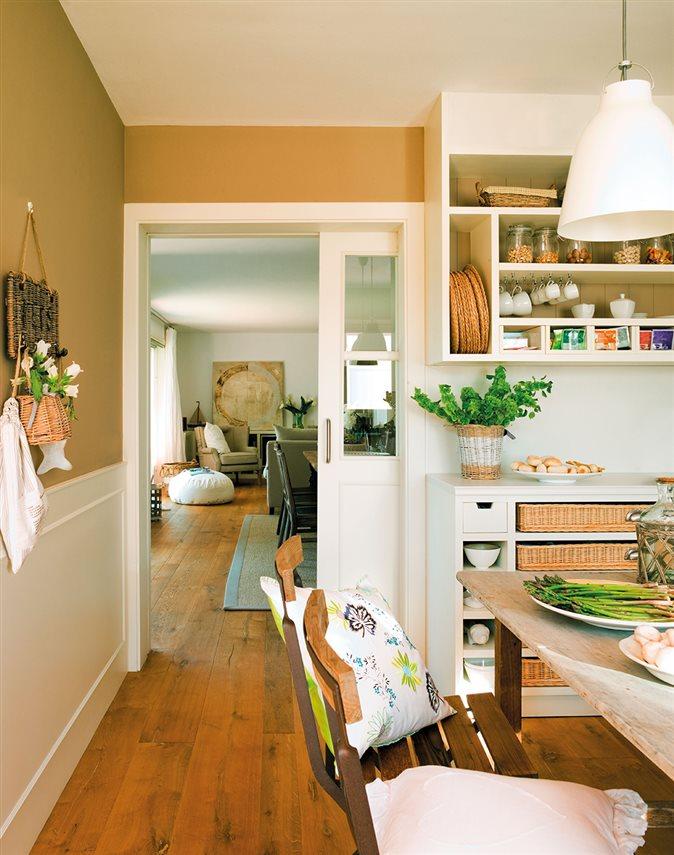 Puertas correderas para evitar barreras y ahorrar espacio - Puertas correderas para cocinas ...
