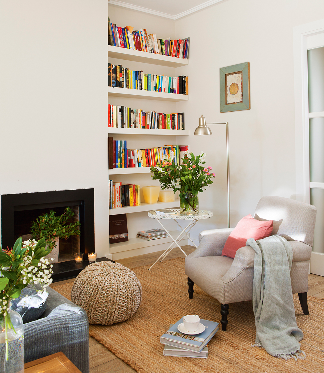 Un piso en barcelona tranquilo y luminoso - Poner chimenea en casa ...