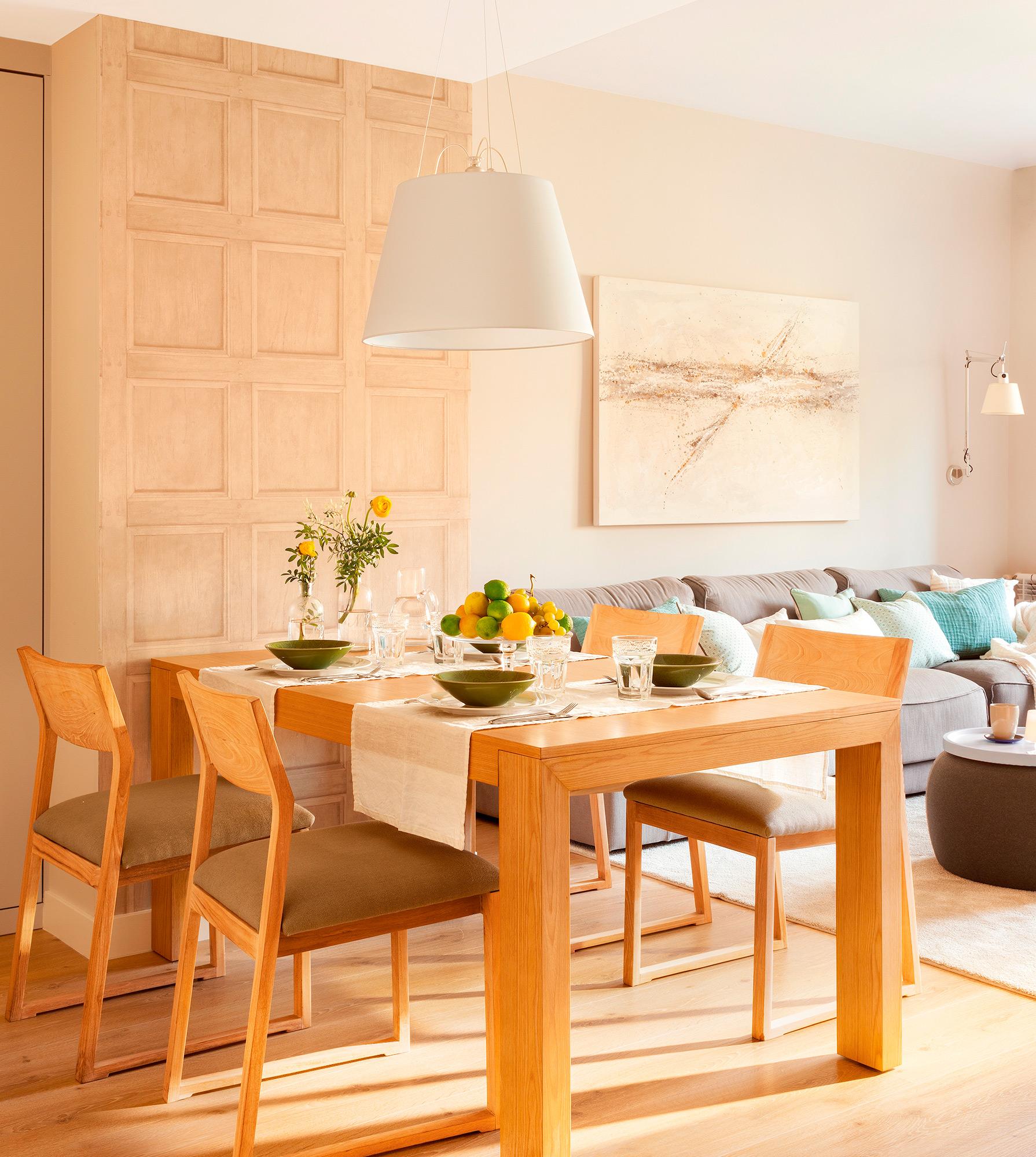 Comedores para espacios peque os for Mesa salon comedor