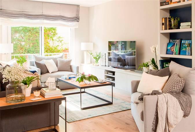 D nde poner la tele consejos para saber d nde colocar la - Mesas para delante del sofa ...