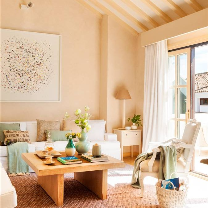 C mo decorar tu piso o tu casa - Alfombras de madera para salon ...