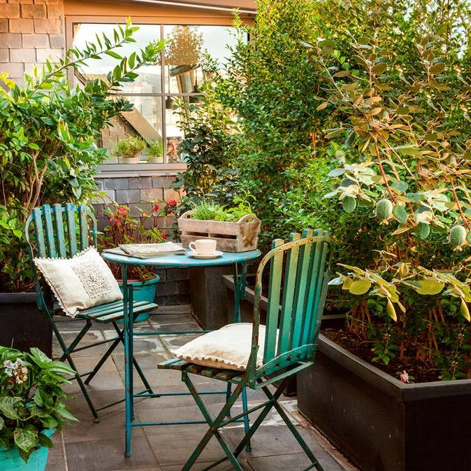 10 terrazas peque as pero bien aprovechadas - Aticos en silla ...