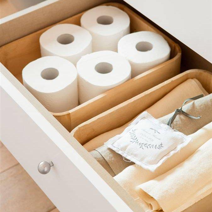 Trucos para compartir el ba o con comodidad - Mueble para toallas ...